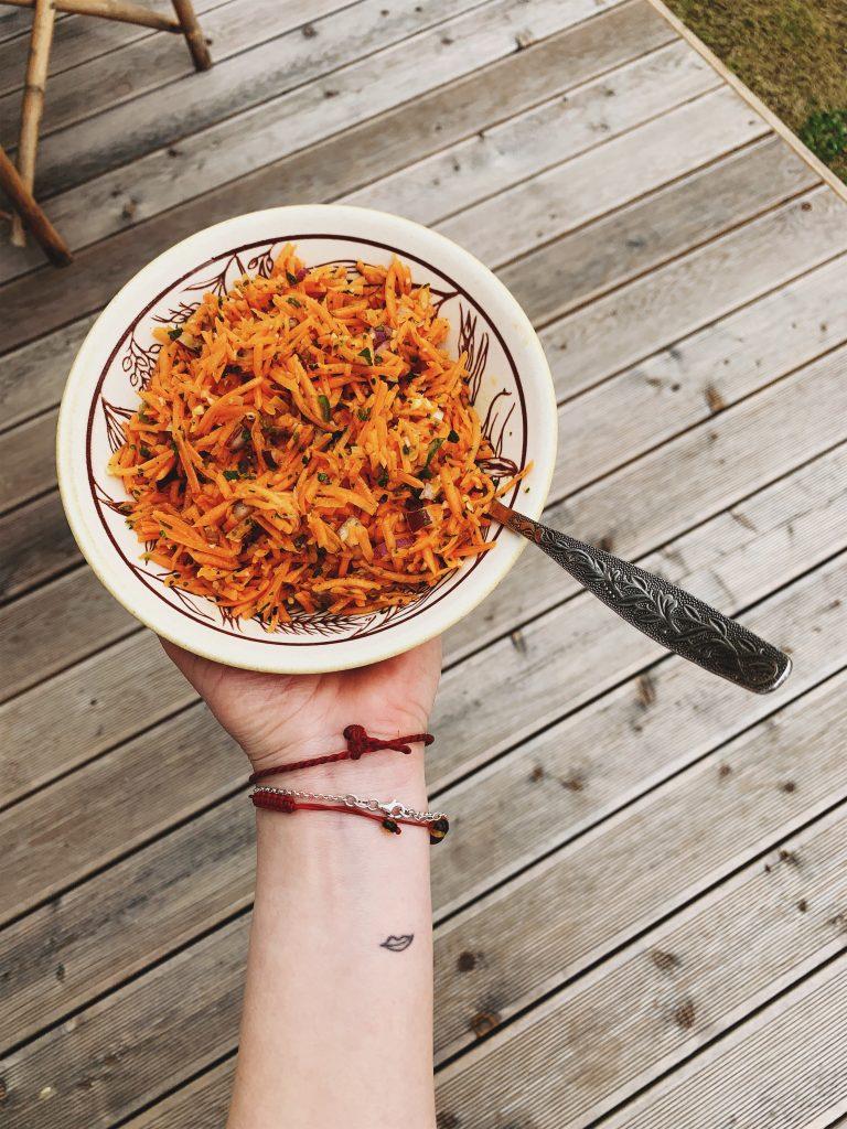 Izraelio virtuvė, Aštrios morkų salotos